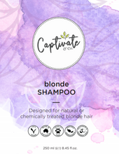 Load image into Gallery viewer, Blonde Shampoo 250ml - Captivate & Co