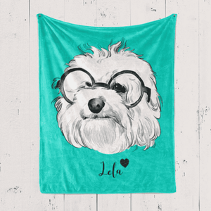 Custom Pet Portrait Blanket