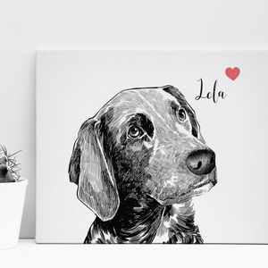 Custom Pet Drawing Canvas 01