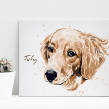 Load image into Gallery viewer, Custom Pet Drawing Canvas 02