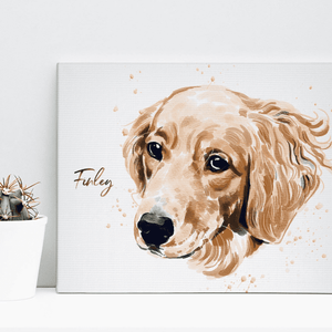 Custom Pet Drawing Canvas 02
