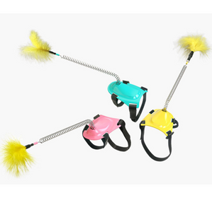 Little Foot Toy Spring Funny Cat Stick
