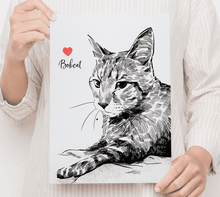 Load image into Gallery viewer, Custom Pet Drawing Canvas 01