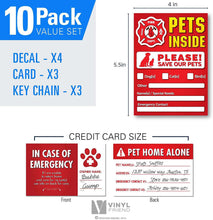 Load image into Gallery viewer, Pet Alert Stickers - FIRE Safety Alert and Rescue