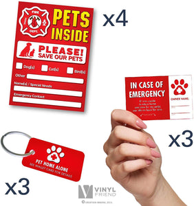 Pet Alert Stickers - FIRE Safety Alert and Rescue