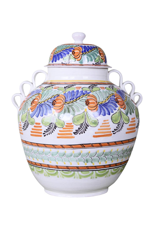 Large Multicolor Pot with Lid