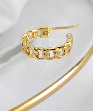 Link Chain Hoops - Edona