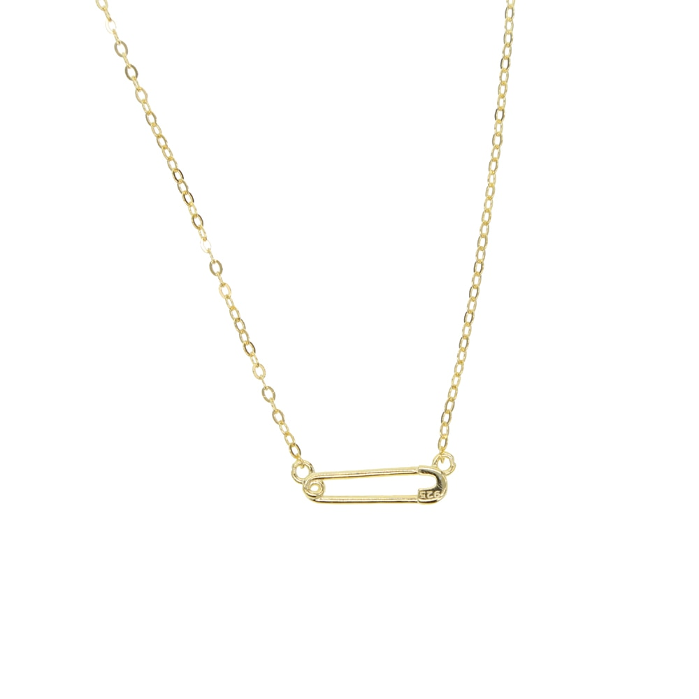 Delicate Safety Pin Necklace