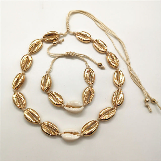 Gold Cowrie Shell Set - Edona