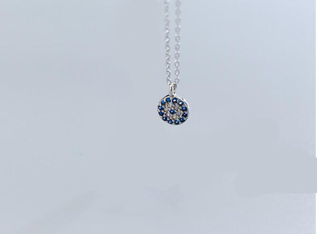 925 Sterling Silver | Blue Evil Eye Necklace