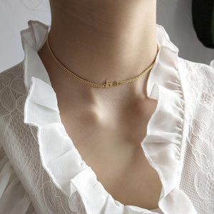 925 Sterling Silver - Love Collar Necklace