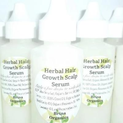 Herbal Hair Growth Scalp Serum, Brina Organics