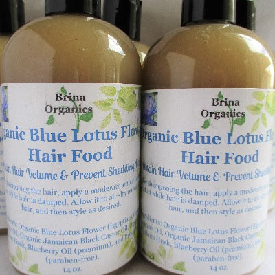 Organic Blue Lotus Flower Hair Food, Brina Organics