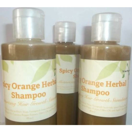 Spicy Orange Herbal Shampoo Sulfate-free, Brina Organics