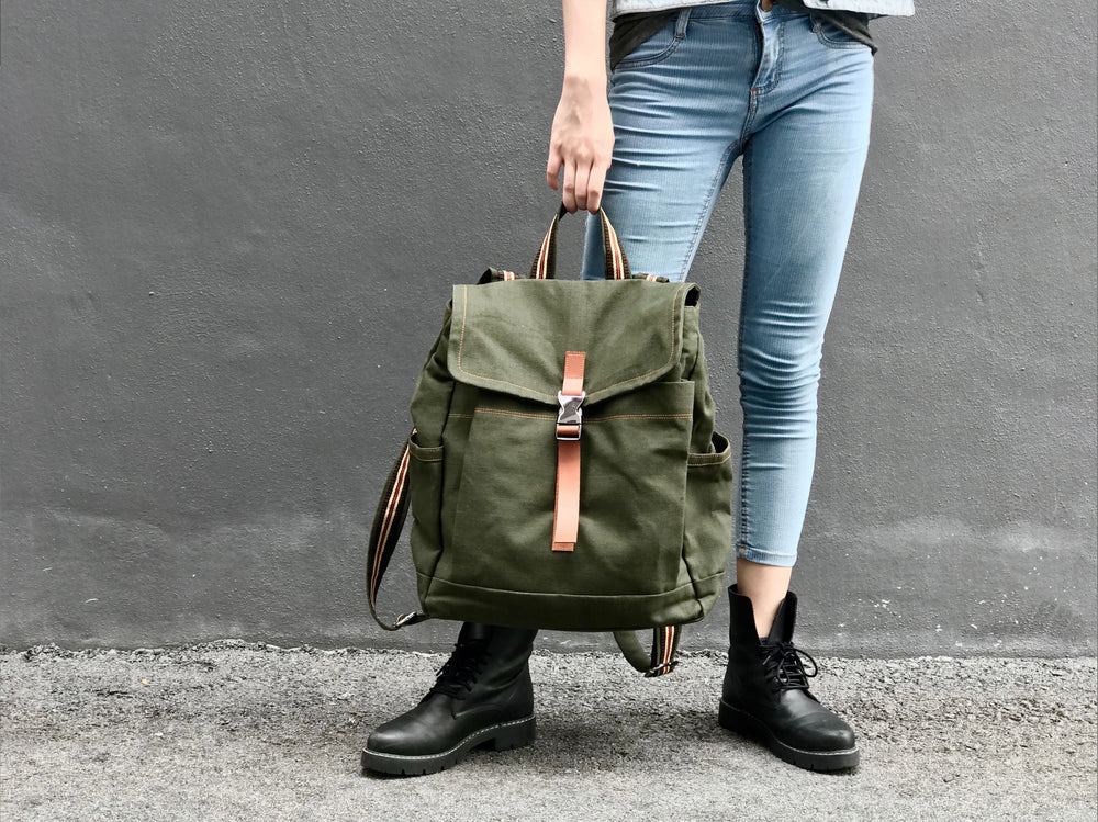 MILITARY WAXED CANVAS/ MARKEN 108 Backpack/ ARMY GREEN