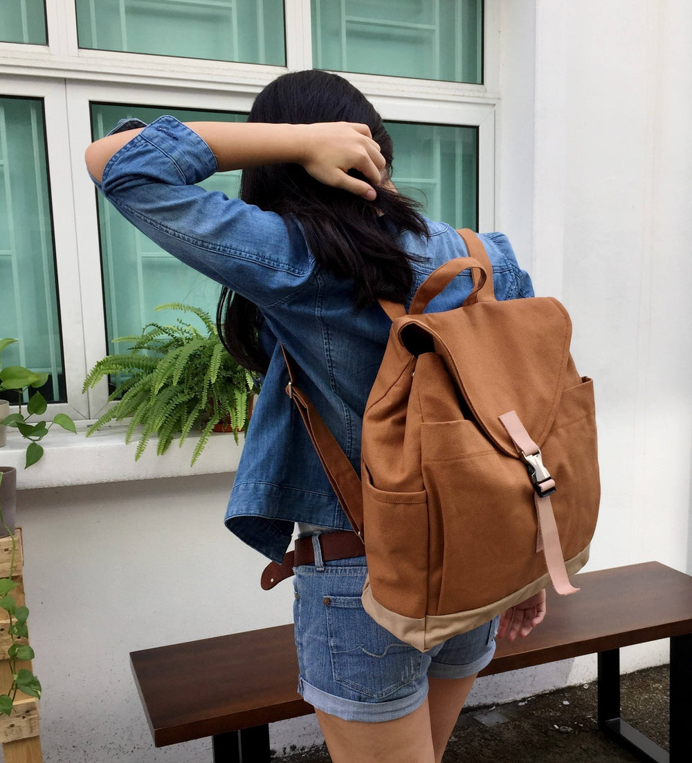 MARKEN 108 Backpack/ COGNAC