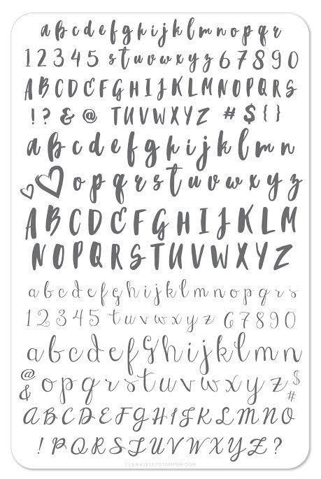 (CjS-40) Alphabet - Brush
