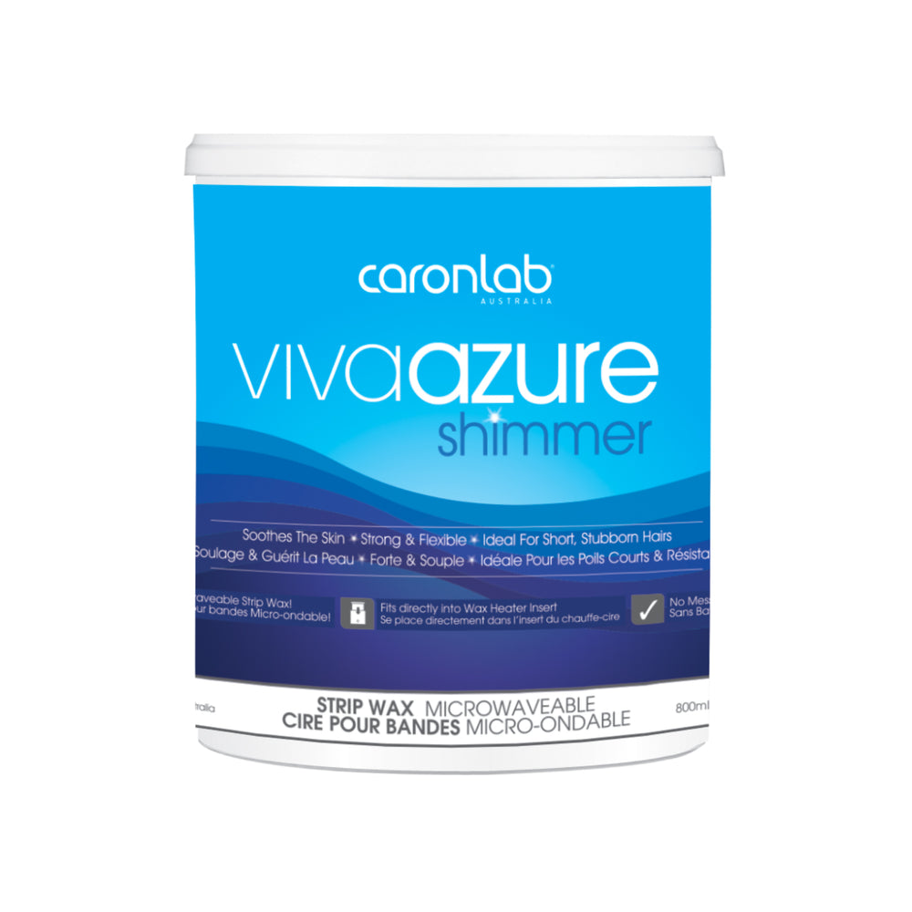 Viva Azure Shimmer Strip Wax - Microwaveable