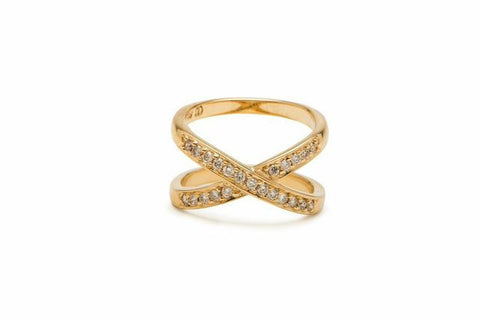 Cross Stitch Diamond Ring