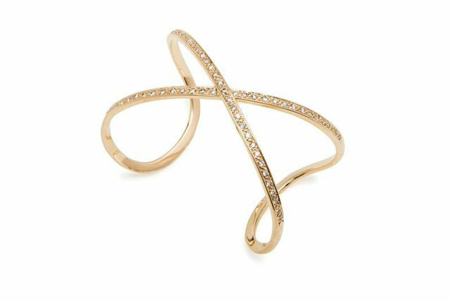 Cross Stitch Diamond Bangle - Charmed Circle