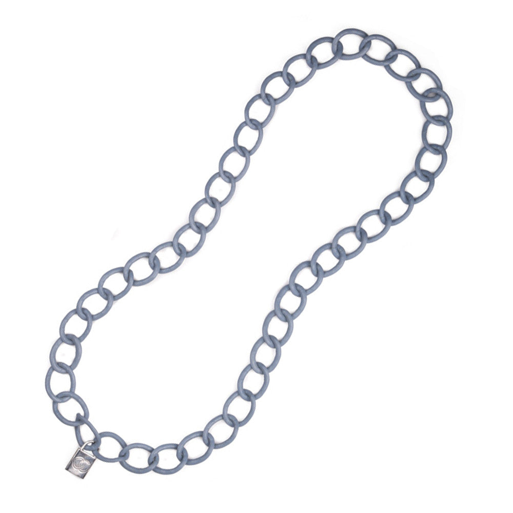 Round Twist Chain Necklace - Leather