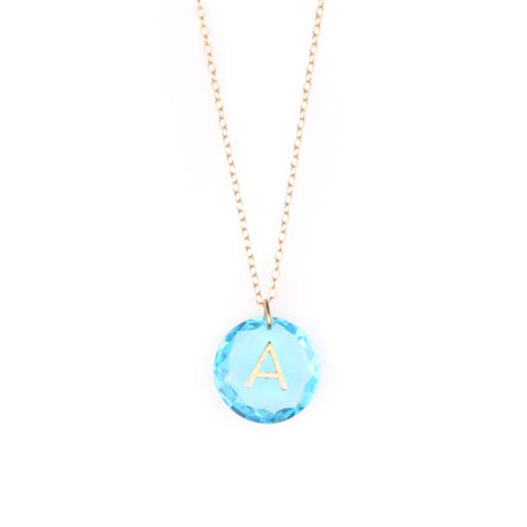 Like Letter Necklace Blue Topaz - Charmed Circle