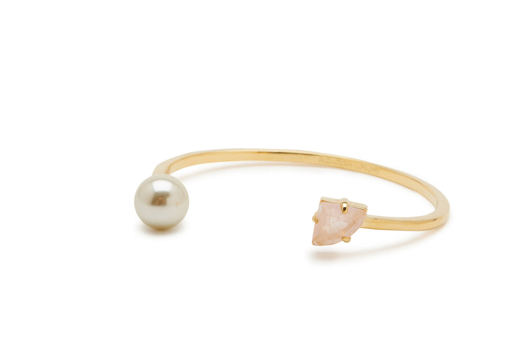 Pearl and Stone Bangle