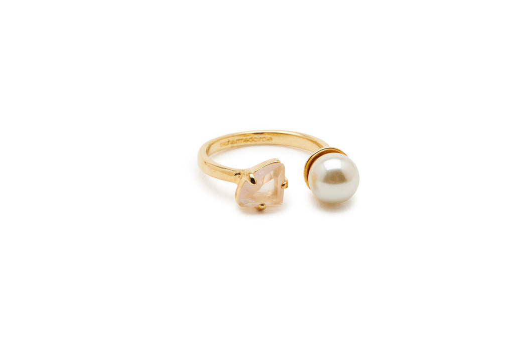 Pearl and Stone Ring