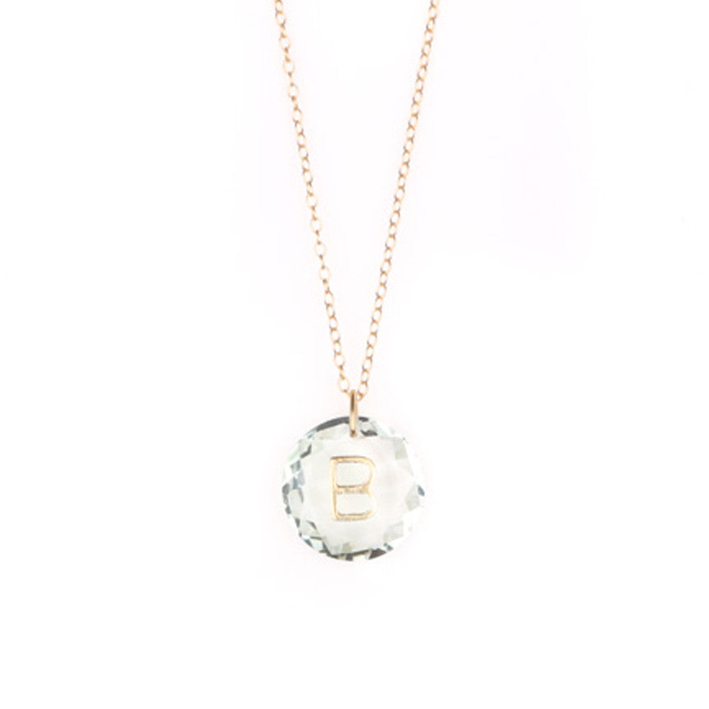 Load image into Gallery viewer, Like Letter Necklace Crystal Quartz - Charmed Circle
