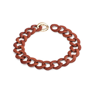 Curb Link Collar - Leather - Charmed Circle