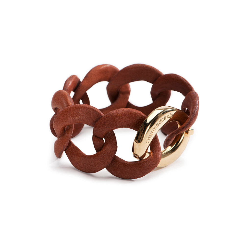 Curb Link Bracelet - Leather