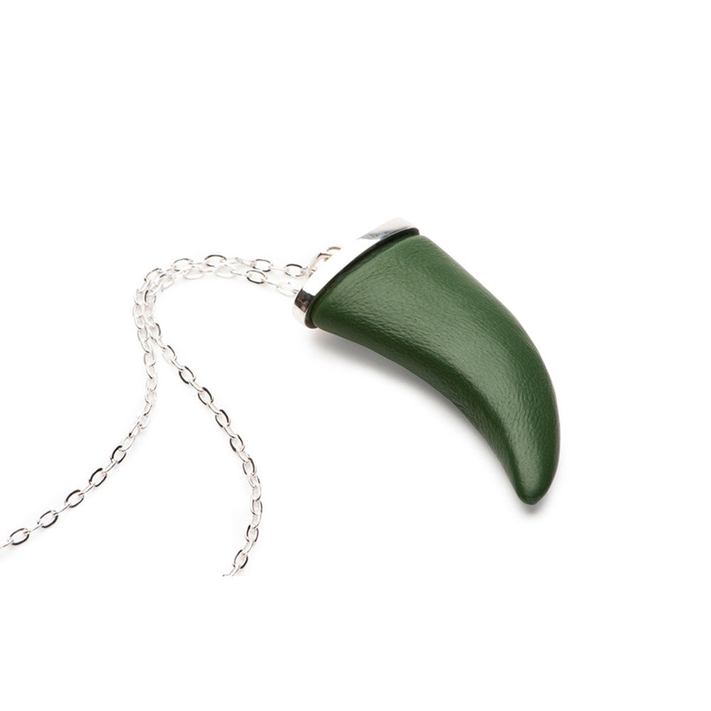 Horn Pendant - Leather