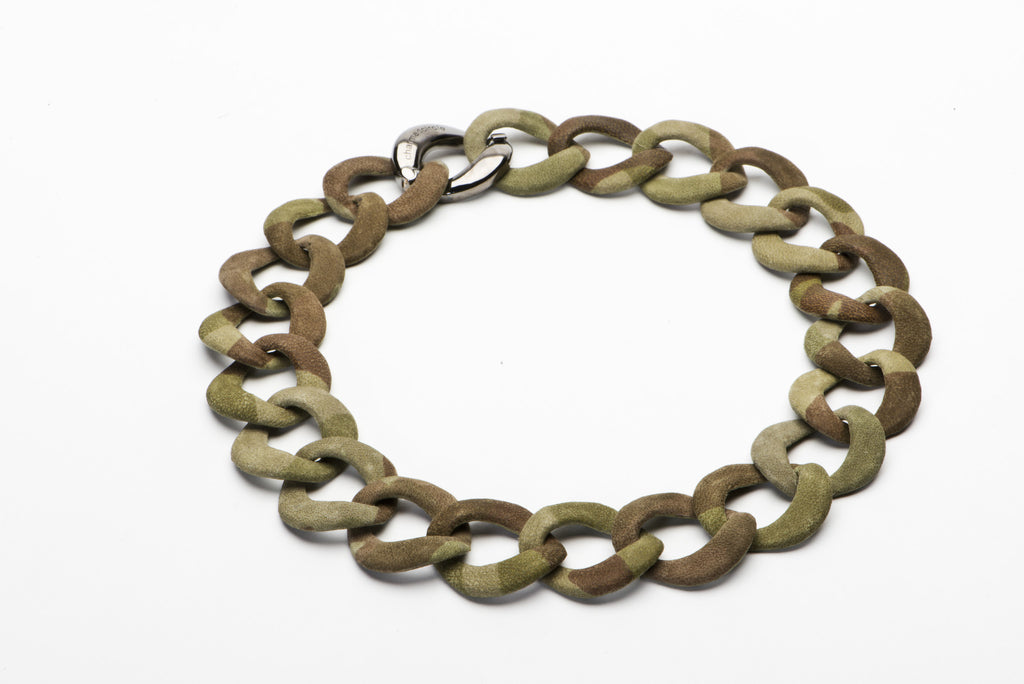 Camo Curb Link Collar - Charmed Circle