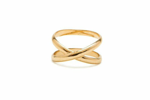 Cross Stitch Gold Ring - Charmed Circle