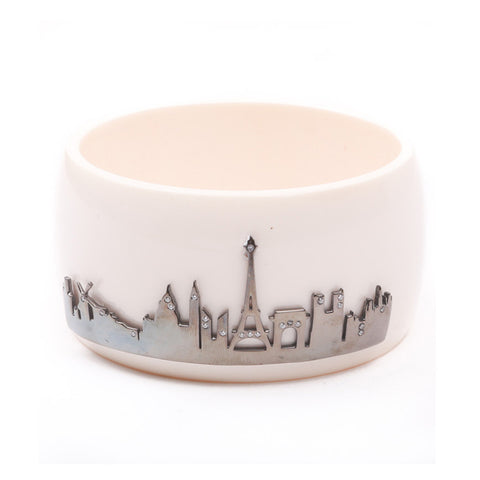 Paris Skyline Cuff - Charmed Circle