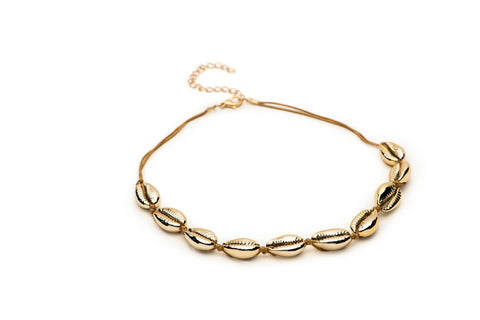 Gold Coquelle Choker - Charmed Circle