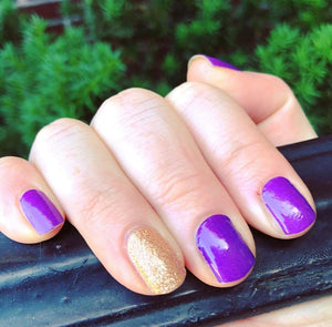 Purple and Gold Nail Wraps