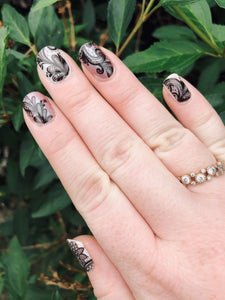Transparent Lace Nail Wraps