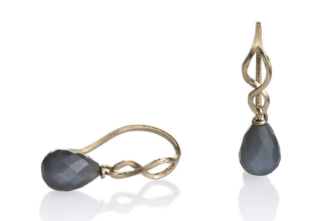 Kaprifol Earring Gold Moonstone