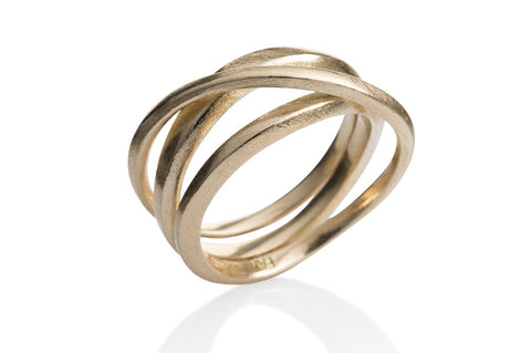 Kaprifol Ring Triple Gold