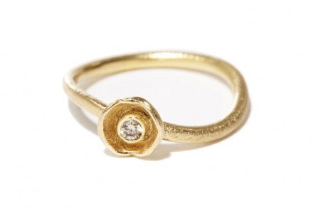 Waterlily Ring Gold Diamond