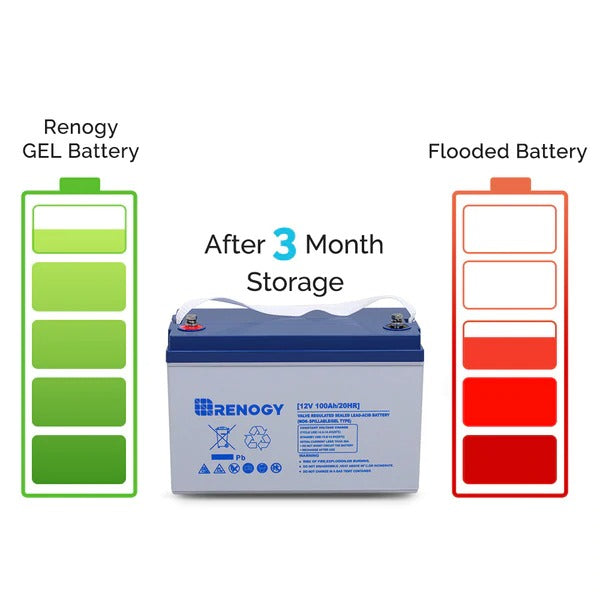 Renogy Deep Cycle Hybrid Gel Battery 12V 100Ah