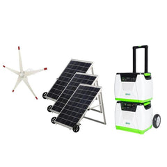 Nature's Generator PLATINUM WE Solar Generator System w/Wind Turbine - IN STOCK DECEMBER