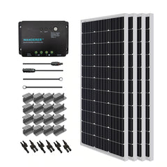 Renogy 400 Watt 12 Volt Monocrystalline Solar Starter Kit for Off-Grid Solar System