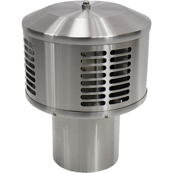 Dickinson Marine DP Exhaust Cap- Stainless Steel
