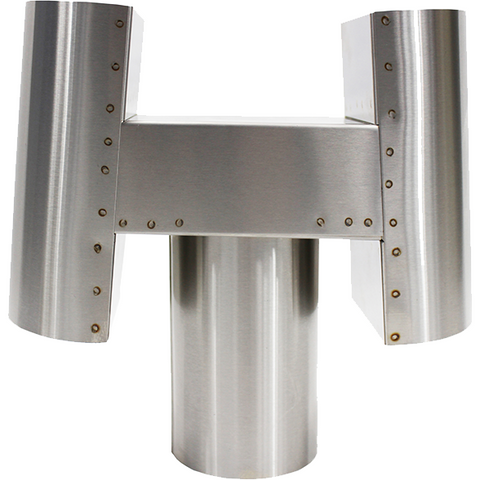 Dickinson Marine H Exhaust Cap- Stainless Steel