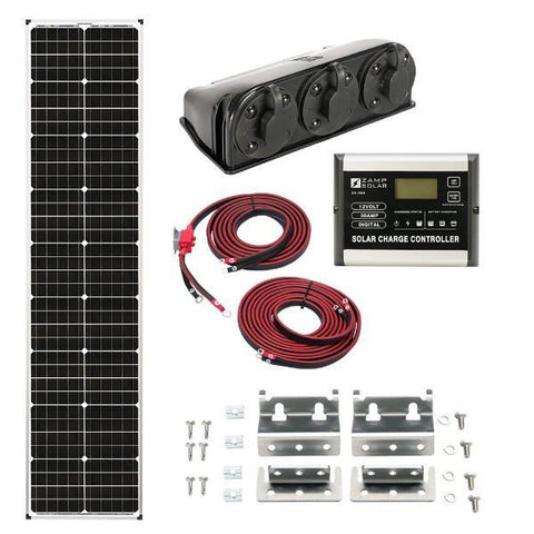 Zamp Solar 90W Deluxe Solar Kit  - Long & Narrow Series