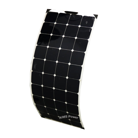 AIMS Power 130 Watt Flexible Bendable Slim Solar Panel