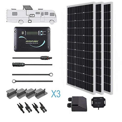 Renogy 300 Watt 12 Volt Solar RV Kit