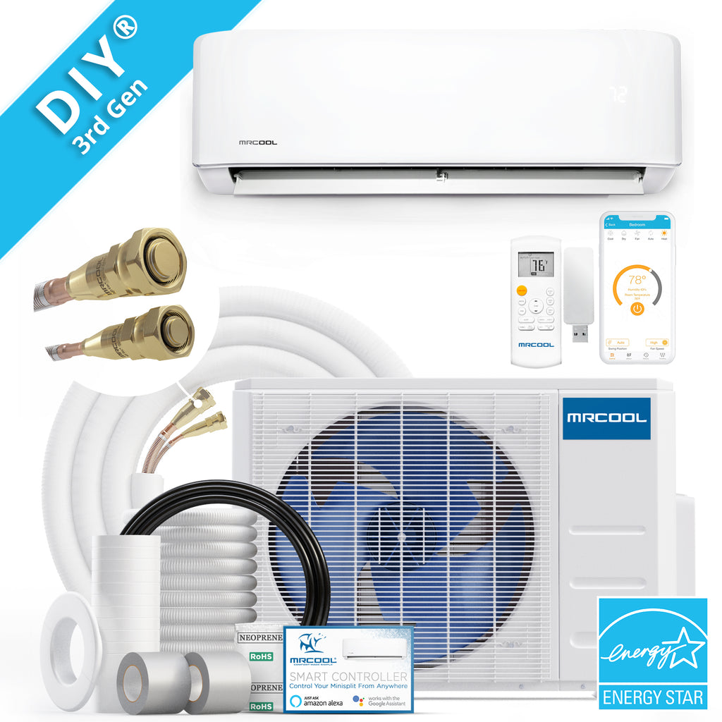 MRCOOL Energy Star DIY 3rd Gen 24k BTU 20 SEER Ductless Mini-Split Heat Pump 230V/60Hz w/enhanced Wifi